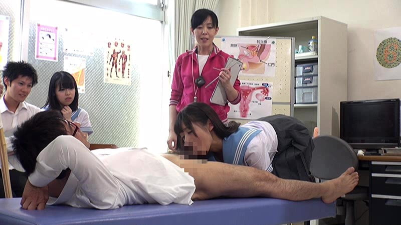 身体検査でフェラチオするJK