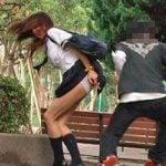 カンチョー襲撃!女子校生にお姉さんにギャルの無防備アナルに指突き立て!