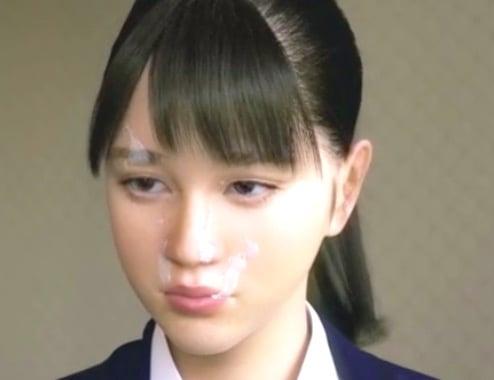 【3Dエロ同人】処女でお嬢さまなJKに極太チンポをぶっこみ顔射ファック