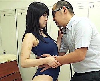 涼海みさ スク水JKと濃厚接吻からのSEX 教師と生徒のいけない関係